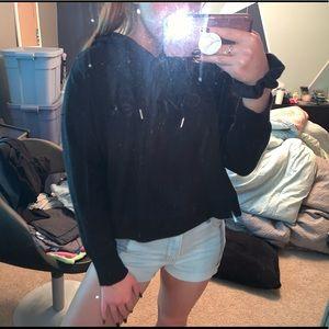 Black Cropped Calvin Klein Sweatshirt
